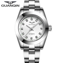 GUANQIN GQ70005 Luxurious Lovers watch pair Authentic Waterproof Diamond sapphire Males and Girl gold watches 12 month Assured