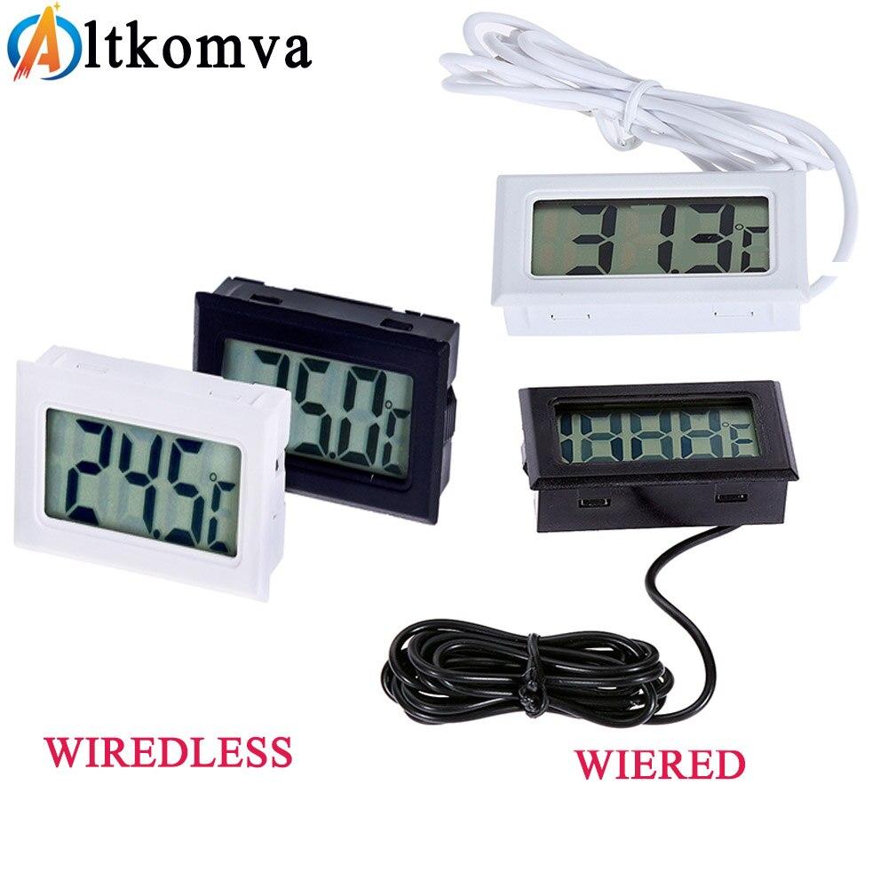 HTB1yGyEX7T2gK0jSZPcq6AKkpXa8 Mini Digital LCD Thermometer Sensor Convenient Hygrometer Gauge Refrigerator Aquarium Monitoring Display Humidity Detector