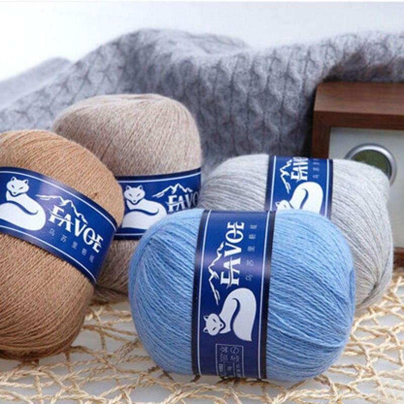 100g/Bag Ussuri Raccoon Rabbit Cashmere Wool Fine Woolen Sweater In The Hand Knitted Soft Wool Crochet Yarn For Knitting Thread