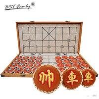 BSTFAMLY китайские шахматы Сян (сочетание ароматов риса и орехов) Qi Size6 кожаных изделий 55 мм * 20 мм складной Checkboard 32 шт./компл. без Магнитная игра г