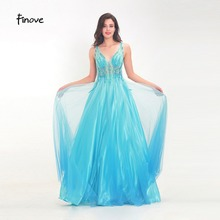 Finove Prom Dress Long 2019 In Women'Dresses Tulle Satin