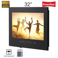 32 Inch Mirror Bathroom TV Waterproof LCD TV Mirror Finish