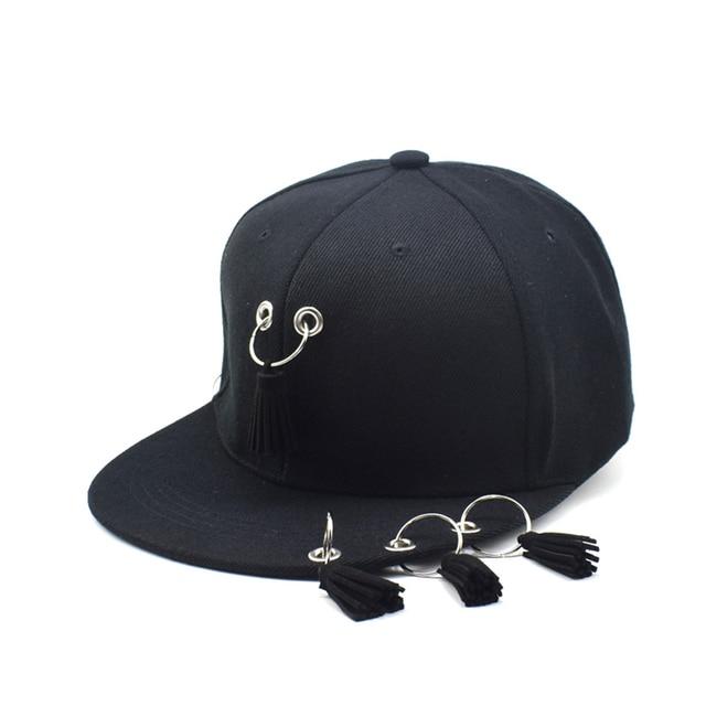 ca6c05f24faed Mode Cincin Jumbai Busana Hip Hop Topi Baseball Cap Pria Wanita Musim Gugur Musim  Panas Hitam