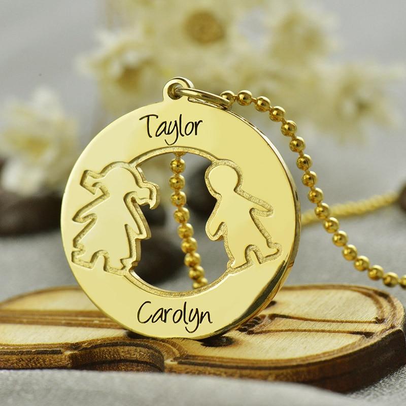 ailin engraved children name necklace personalized mothers. Black Bedroom Furniture Sets. Home Design Ideas