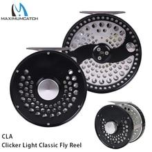 Maximumcatch 3 11WT Clicker או דיסק גרור קלאסי לטוס דיג סליל אור משקל CNC מכונת לחתוך T6061 אלומיניום טוס Reel
