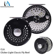 Maximumcatch 3 11WT Clicker or Disc Drag Classic Fly Fishing Reel Light Weight CNC Machine Cut T6061 Aluminum Fly Reel
