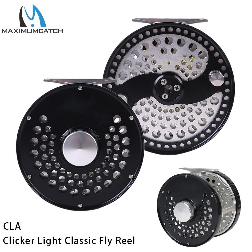 Maximumcatch 7-10WT Clicker/Disc Drag Light Classic Fly Fishing Reel CNC Machine Cut T6061 Aluminum Fly Reel