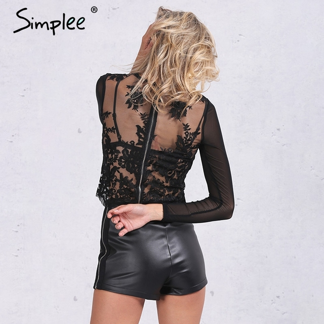 Simplee Autumn faux leather black shorts women Cool side zipper high waist shorts Sexy evening party club skinny girls shorts