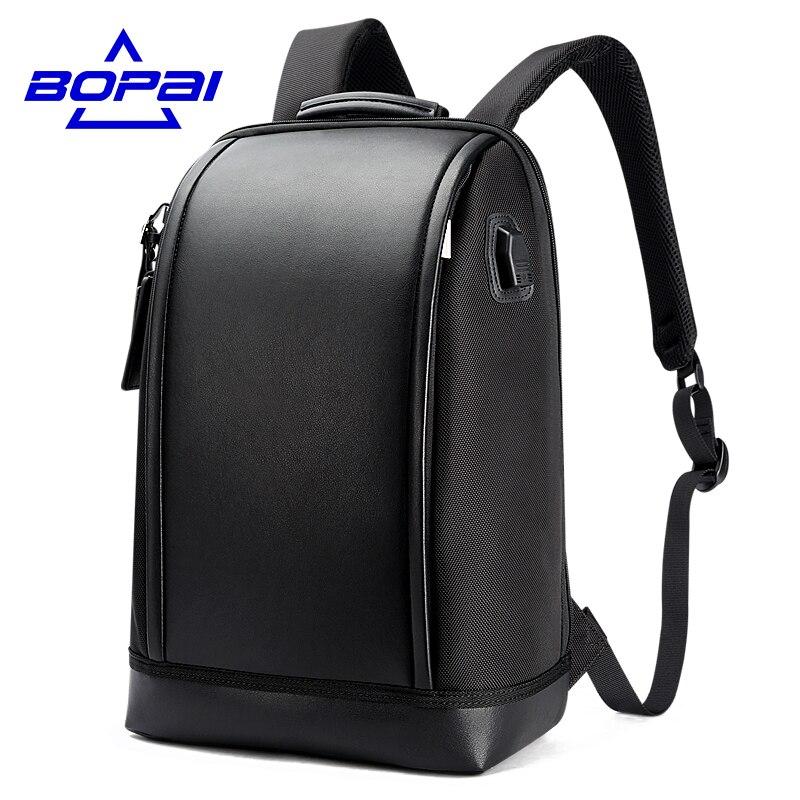 BOPAI 2017 Verão Novo Projetado Mochila Mochila Laptop Homens de Negócios Dos Homens À Moda Original USB Viagem Mochilas Escolares Moda Mochila