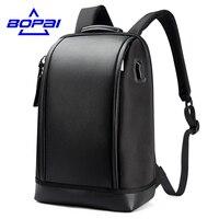 BOPAI 2017 New Designed Summer Backpack Men Unique Stylish Laptop Backpack Business Men Travel USB Backpack