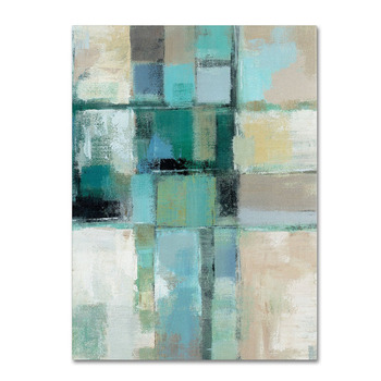 Handpainted Abstract Oil Painting on Canvas Turquoise green abstract Deco Home Decoration Modern Abstract Painting on Canvas