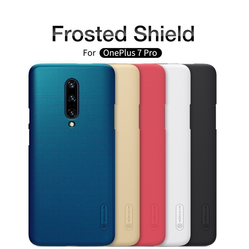 Oneplus 7 Pro Case Casing Nillkin Frosted PC Matte  Hard Back Cover Case With Gift Phone Holder For Oneplus7 For Oneplus 7 Case