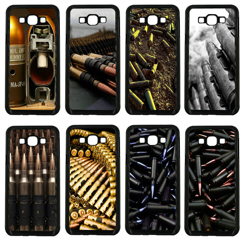 Hard PC Plastic Cover Army Fan Weapons Bullets Cell Phone Case for Samsung Galaxy J1 J2 J3 J5 J7 2015 2016 2017 ON Prime Shell
