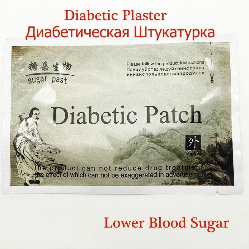 10pcs/lot Diabetes Herbal Diabetes Cure Lower Blood Glucose Treatment Diabetic Patch Russian Instruaction