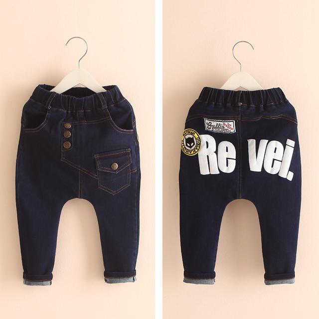 Nueva primavera 2015 otoño pantalones vaqueros chicos, casual, corea, pantalones de niño del bebé. pantalones de los niños ropa del muchacho, jenas