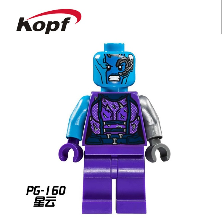 20Pcs PG160 Building Blocks Nebula Bad Guy Rocket Raccoon Tree Man Guardians of the Galaxy Super Heroes Bricks Toys for children