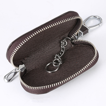 1 Pcs Universal Car Key Case Cover Leather Holder Chain key Shell Protecor Car-styling Accessories