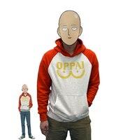 Ein schlag mann hero saitama oppai hoodie cosplay kostüm mit kapuze jacke sweatshirts größe s-2xl