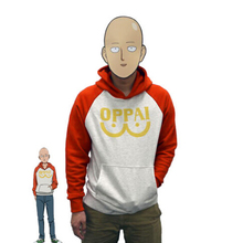 COSMORE One Punch Man Hero Saitama Oppai Hoodie Cosplay Costume Hooded Jacket