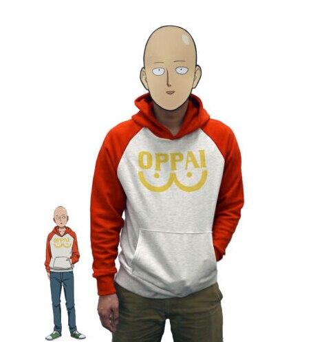 One Punch Man Hero Saitama Oppai Hoodie Cosplay disfraz chaqueta con capucha sudaderas tamaño S-2XL