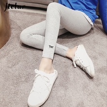 Jielur Leggings Hipster Female Sexy 3 Colors Letter Embroidery Bodycon Korean Style Autumn Pants Womans Ulzzang Elegant Mujer