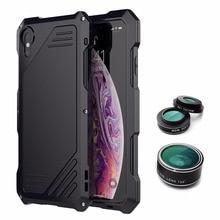 Для iphone x xr xs max Металл чехол для iphone XR чехол Защита Apple бронированный панцири открытый противоударный телефон объектив камера