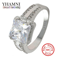 GALAXY Luxury Princess 925 Sterling Silver 3 Carat CZ Diamant Engagement Ring For lover's Sona Wedding Rings For Women YH224