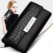 กระเป๋าสตางค์แฟชั่นผู้หญิงหนังคุณภาพสูงยาว CLUTCH Cowhide กระเป๋าสตางค์แฟชั่น Portefeuille Femme 168