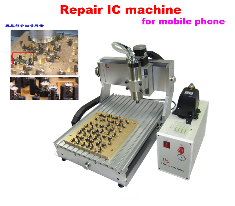 For mobilephone 3040 IC repair LY IC CNC router / milling engraving machine for mobilephone main board  repair with ball screw for iphone main board repair ly ic cnc router 3040 mould 10 in 1 cnc polishing engraving machine eu free tax