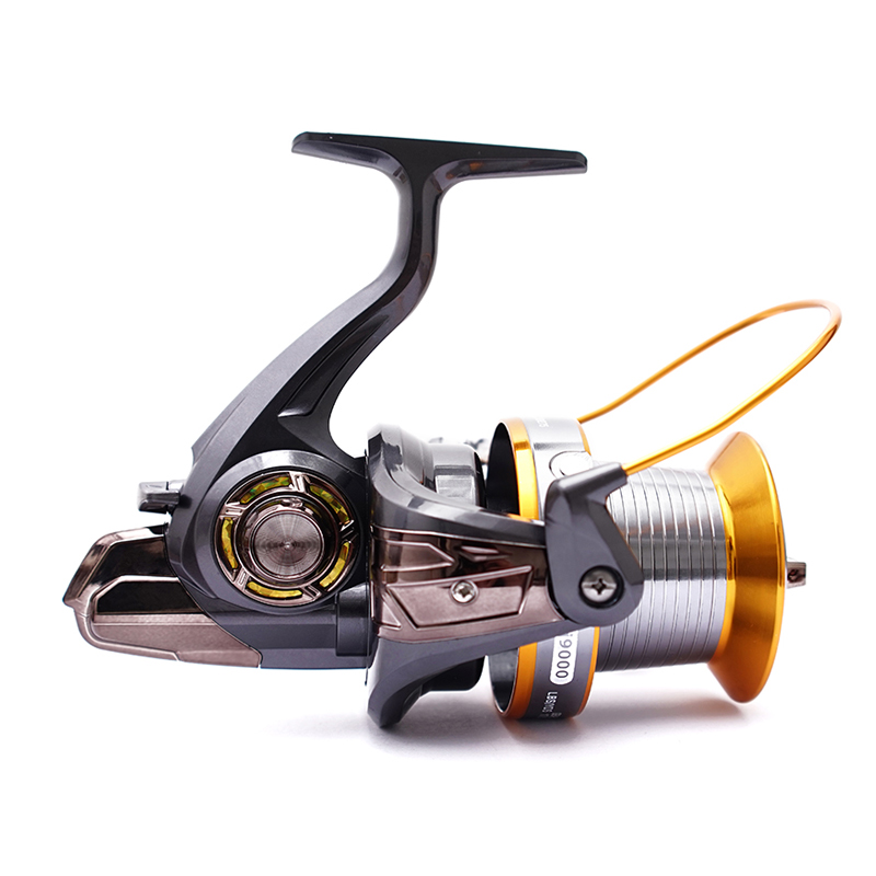 FDDL Spinning Fishing Reel 12+1 Ball Bearings Metal Reel High Speed 4.11:1 Left/Right Handle Fishing Coils for Pesca LJ9000 C5 image