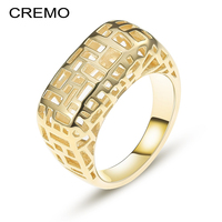 Cremo Labyrinth 925 Sterling Silver Ring 3 Dimensional Design Gold Rings For Women Silver Elegant Wedding Jewelry Mujer Gift