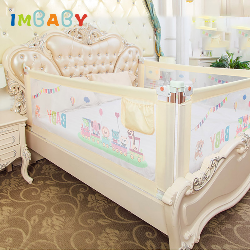 IMBABY Baby Bed Fence Barrier Bed Fence child Barrier for beds Crib Rails Baby Bed Fence