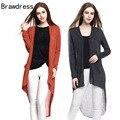 Brawdress New Dovetail Long Cardigans Autumn Women Asymmetric Irregular Hem Coat Femme Casual Knitted  H9
