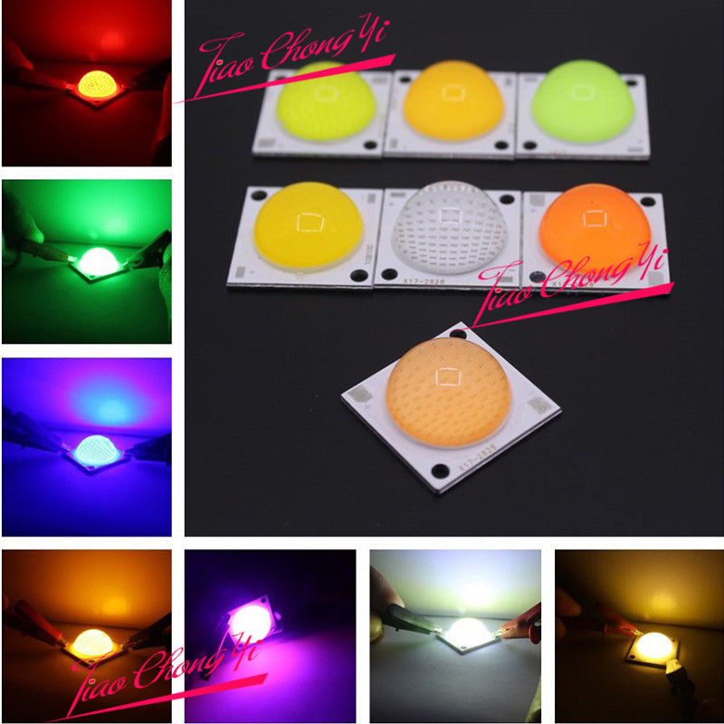 <font><b>50W</b></font> High Power COB LED Lamp beads White Red Green Blue with 60 degree Lens image
