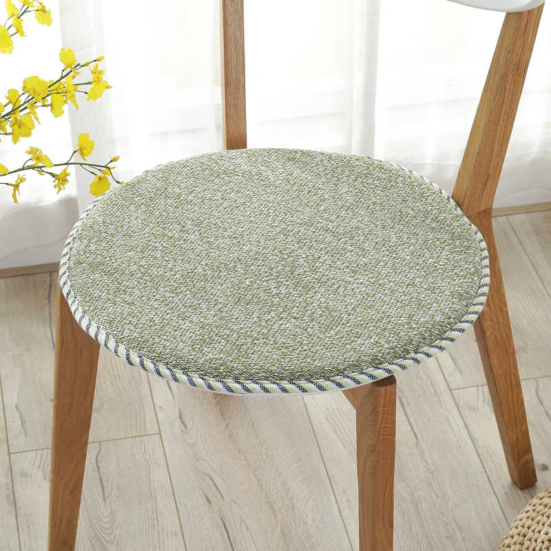 Winter Round Chair Cushion Foam Super Soft Seat Cushion Home Office Decor Throw Pillow Dinning Stool Cushion Anti-slip Sit Pad