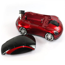 Wireless USB Mouse Fashion 2.4GHZ 1600DPI Receiver Light LED Super Porsche Car Shape Optical Mice For Computer laptop Notebook