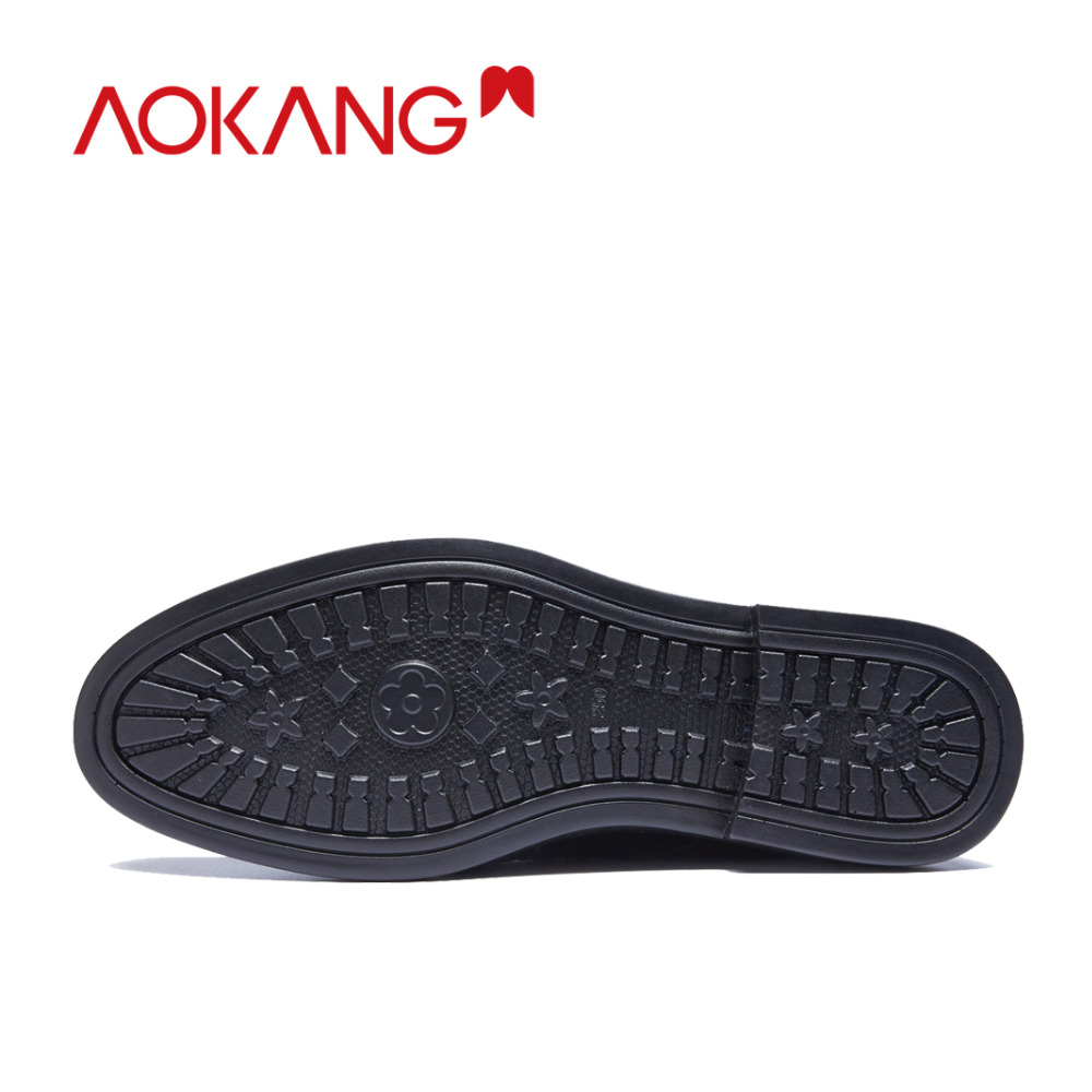 Image 4 - AOKANG New Arrival men dress shoes genuine leather men shoes brand shoes men brogue shoes high quality free shipping 193211002-in Formal Shoes from Shoes