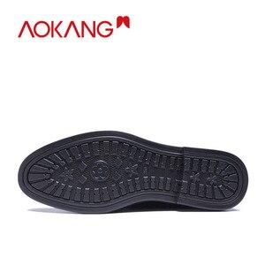Image 4 - AOKANG جديد وصول الرجال فستان أحذية جلد أصلي للرجال أحذية ماركة أحذية الرجال البروغ أحذية عالية الجودة شحن مجاني 193211002