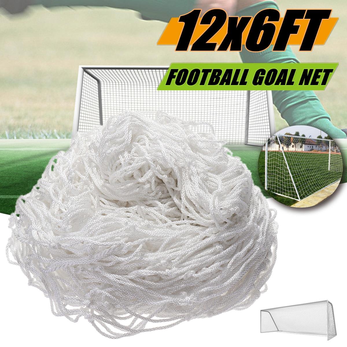 12x6FT Full Size Formazione Partita di Calcio calcio Goal Post Net Per Gli Sport All'aria Aperta Annodato Doppio Flessibile Materiale In Polipropilene