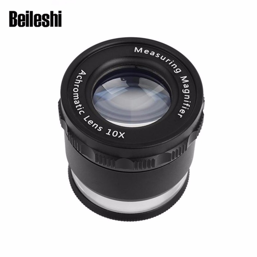 Beileisi DH Measuring Magnifier with LED Lights 10X Hands Magnifying Glass Cross Calibration Lightweight and Convenient to Carry 1000ml glass measuring cylinder