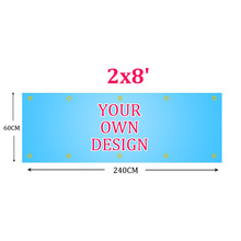 Custom flag 240x60cm 2x8FT Polyester all logo all color Customization flag Banners