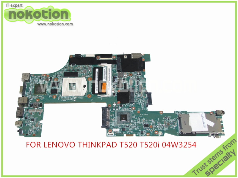 NOKOTION FRU 04W3254 P0B39991 For Lenovo thinkpad  T520 T520i Laptop motherboard QM67 GeForce NVS4200M graphics nokotion fru 04w6824 for lenovo thinkpad t530 laptop motherboard nvs 5400m graphics qm77 ddr3