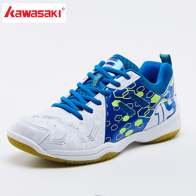 2018 NEW Kawasaki Sneakers white Purple Badminton Shoes Indoor Court Training Sports Shoes Women Men PVC