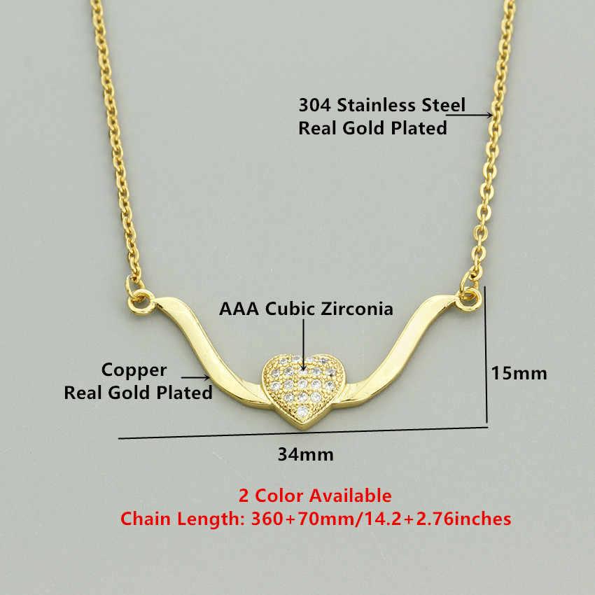 Tối giản Bay Love Tim Mặt Dây Chuyền Cubic Zirconia Hình Học Bar Phụ Nữ Choker Necklace Xương Đòn Chain Charm Đồ Trang Sức