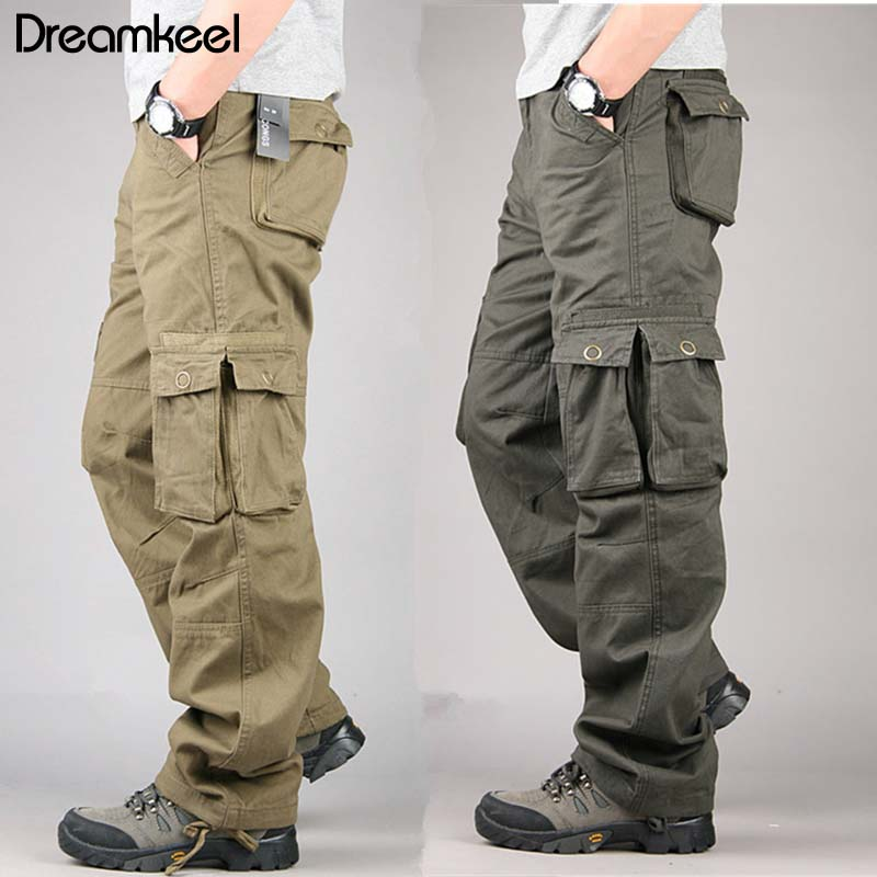 2019 Camouflage Tactical Military Fatigues Cargo Pants Men's Cotton Loose Military Trousers Pants Plus Size Tactical Pants Y(China)