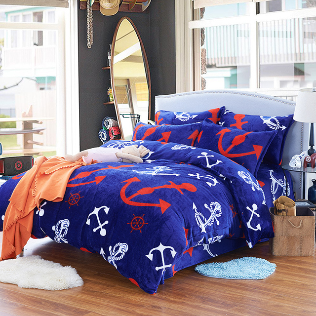 One Piece Comforters And Quilts Pirates Of The Caribbean Bed Sheets Blue Bed  Linen Anime Bed