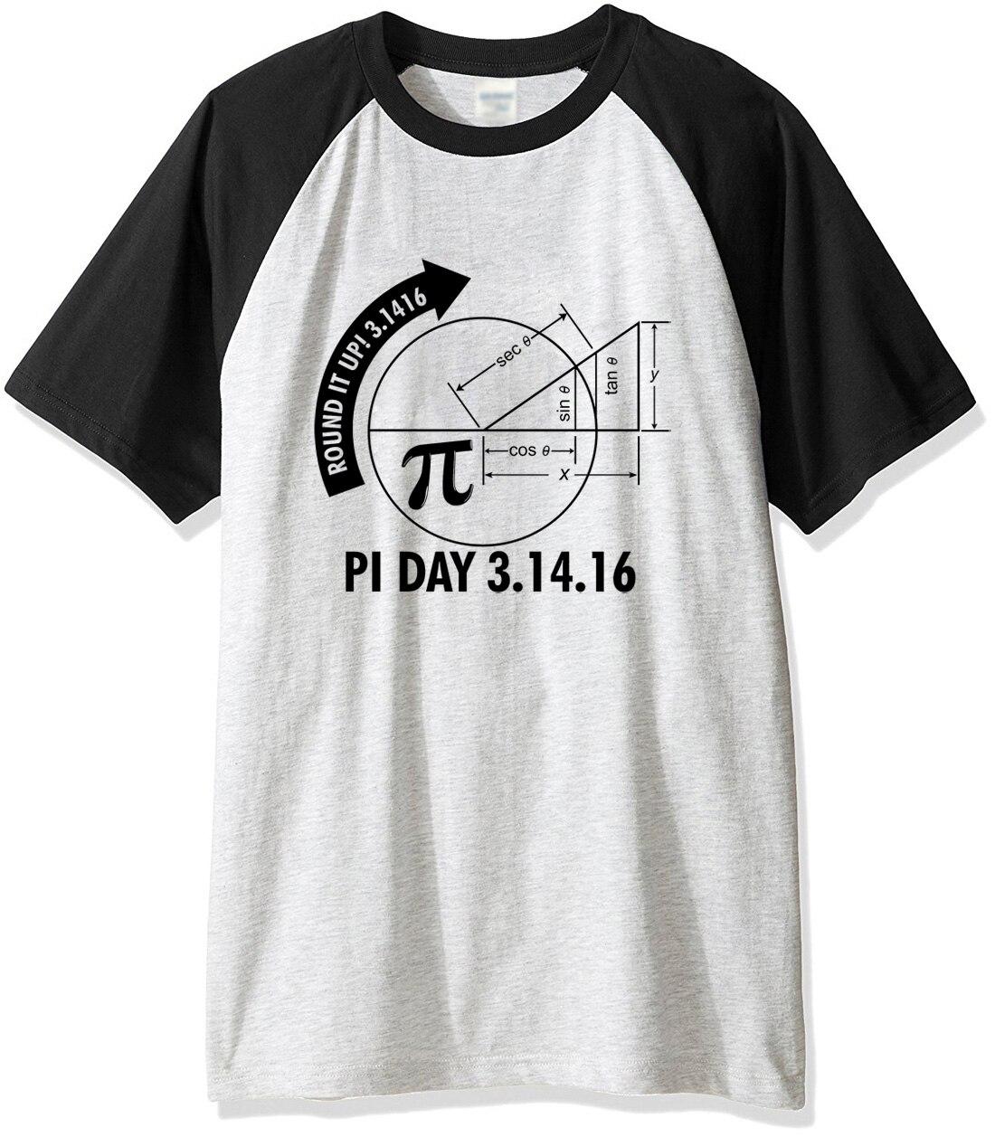 Hot 2017 summer tshirt Pi Day 3.1416 Round It Up Math Graph STEM t-shirt harajuku streetwear fitness clothes raglan t shirt men