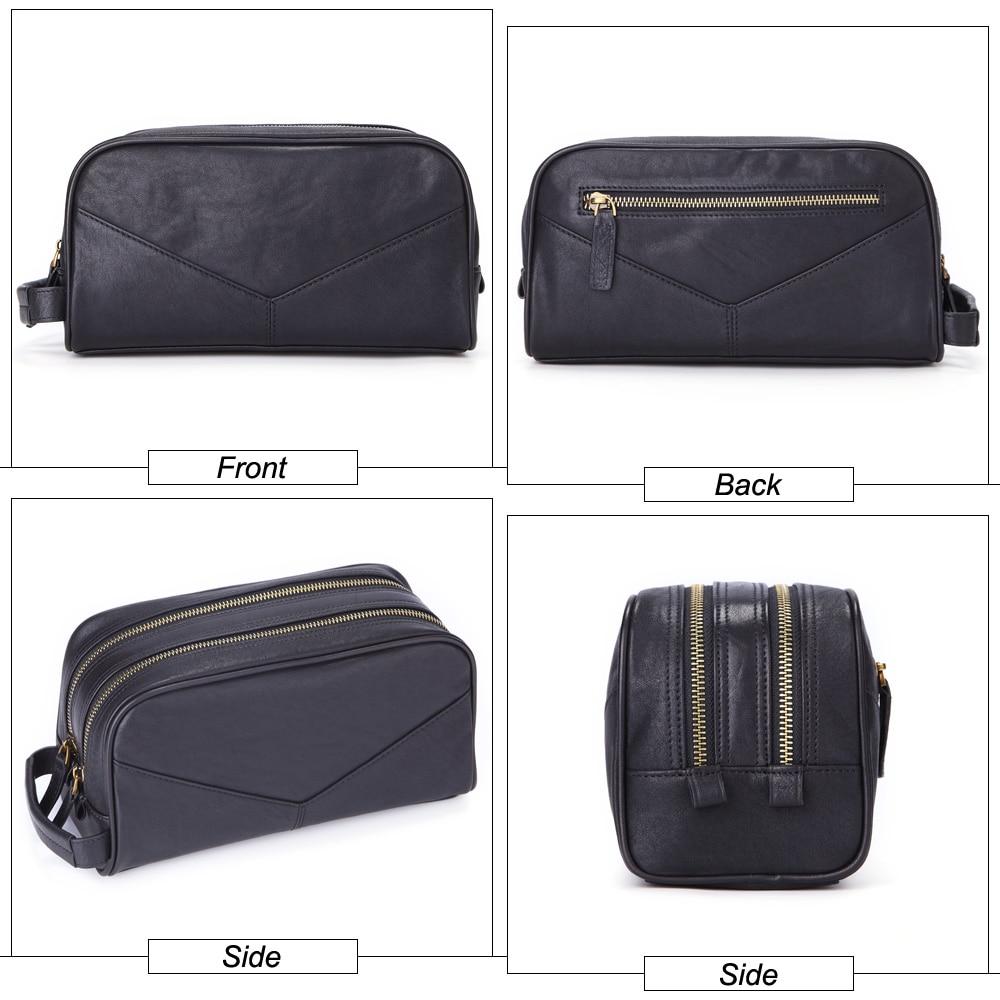 GENODERN 100% ของแท้หนังผู้ชายกระเป๋าเครื่องสำอางแต่งหน้ากระเป๋ากระเป๋าเดินทางกรณีมือถือ Make up Wash Nags สำหรับชาย Organizer-ใน กระเป๋าและเคสใส่เครื่องสำอาง จาก สัมภาระและกระเป๋า บน   3