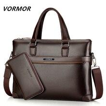 Famous Brand Fashion Casual Leather Bag Men's 2 Set Shoulder
