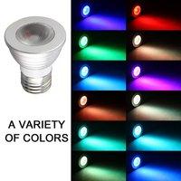 2 PCS 5W E27 Multi Color Change RGB LED Light Bulb Lamp with Remote Control
